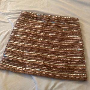 Beaded mini skirt